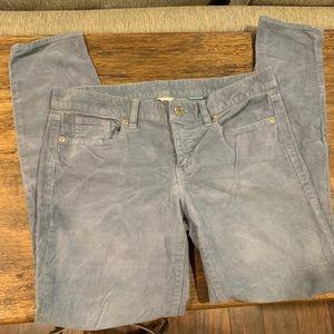 J CREW Grey Corduroy Jeans